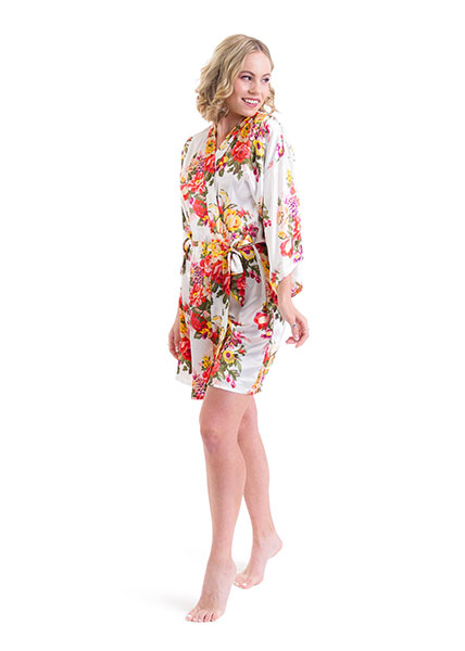 Satin Floral Robes - 9 colours