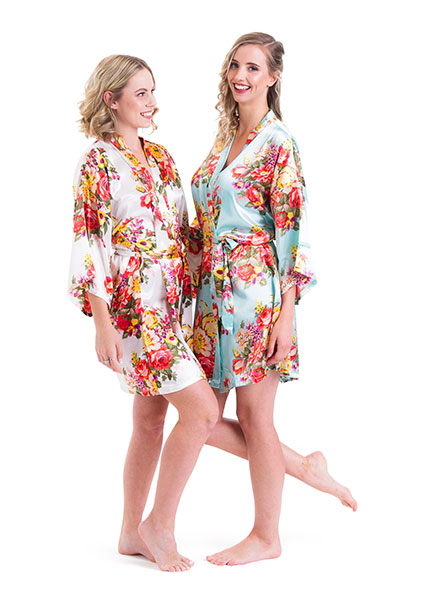 Satin Floral Robes – 9 colours