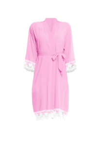 Pink Lace Bridesmaid Robe