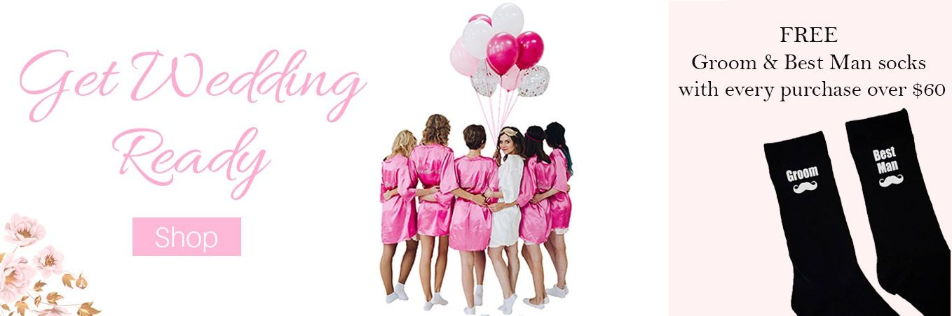 Bridesmaid Robes Australia, Personalised Wedding Hangers, Wedding Tote Bags, Bridesmaid Gifts