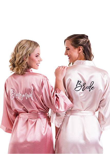 Classic Satin - Personalised Robes - Various Font options
