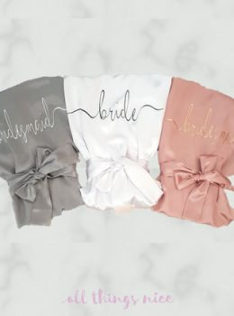 Grey, White, Dusky Pink with romance style personalisation